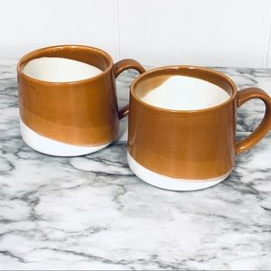 Starbucks Brown and White Ceramic Coffee Mugs